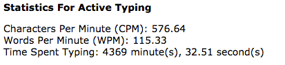 Typing Speed