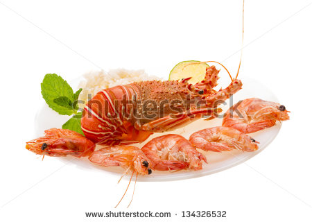 stock-photo-spiny-lobster-shrimps-and-rice-134326532
