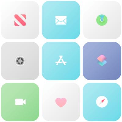 pastel aesthetic icons