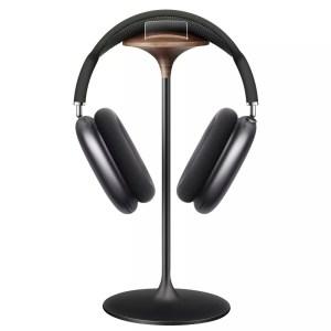 premium minimal wood and metal headphone stand