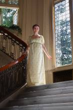 Cotton Regency era dress.At Pittock Mansion. Photo by OrangeKraftwerks.