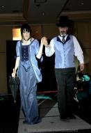 Michele and Greg in 1882 style costumes at a Steampunk convention. Photo by Nellie Bly.