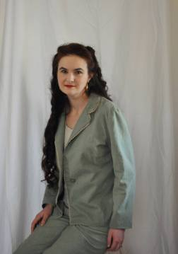 Green linen-rayon blend jacket. Photo by Chrystle Hopper.