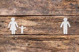 Familien er skilt