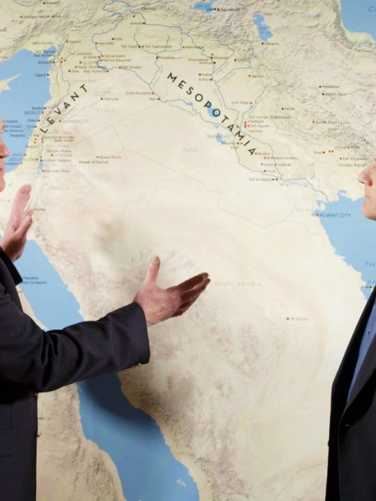 Doug and Del discussing the Middle East