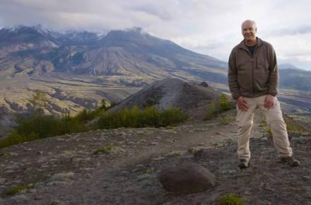 Del Tackett at Mt. St. Helens