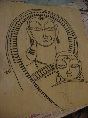 Mother and Child Jamini Roy's work