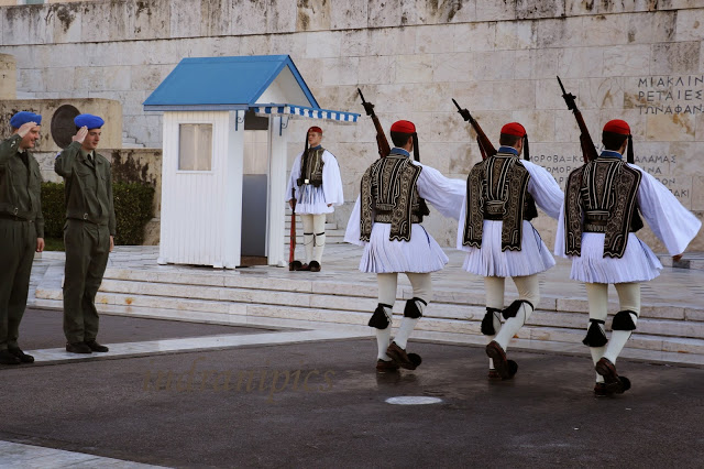 Change of Guard in Syntagma Square Athens Greece