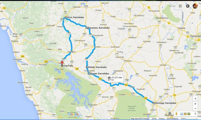 Road trip Shimoga to Jog falls