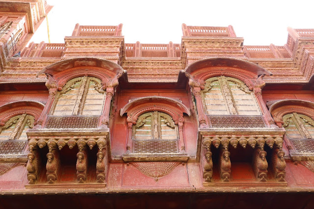 Facade of Rampuria Haveli