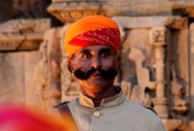 A Guard at Kiradu Temple, Barmer