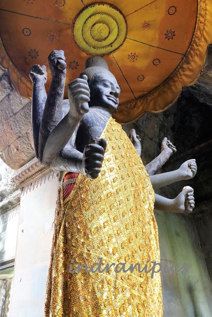 Lord Buddha in Angkor Temple