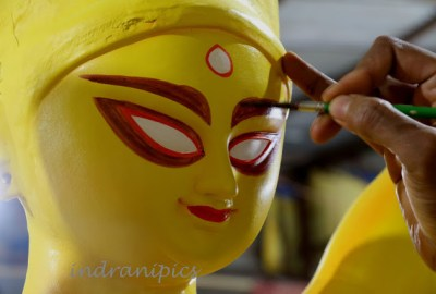 Painting Eyes of Ma Durga