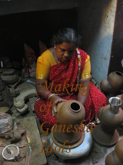 Making Idol of Ganesha