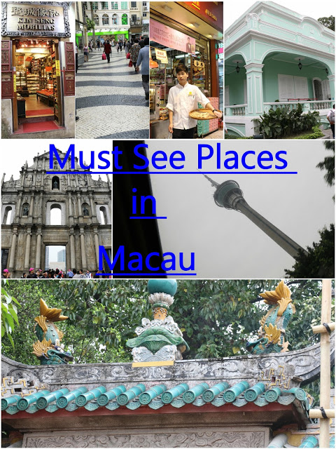 Must see places in Macau This tour mainly covered the must see places in Macau listed in UNESCO World heritages sites.