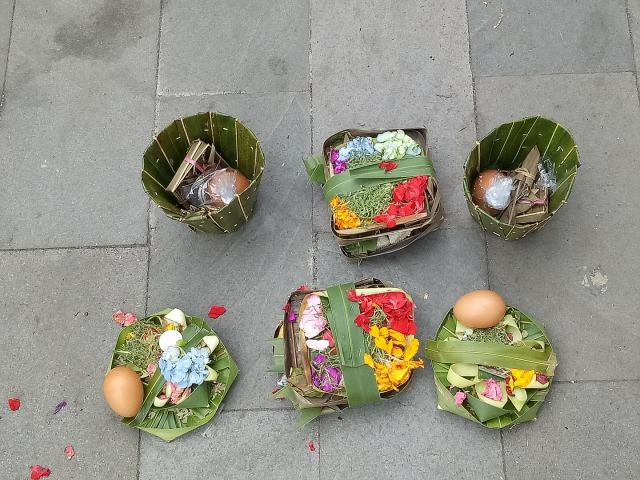 Offerings to Gods in Bali Indonesia