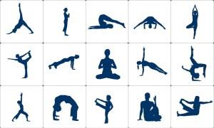 yoga various asanas