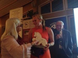 Louise Sieka vann Idunns avelsvisarpris. Foto: Lena Liedberg