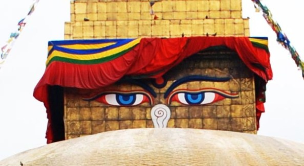 Buddha's mersmerising 'all-seeing' eyes