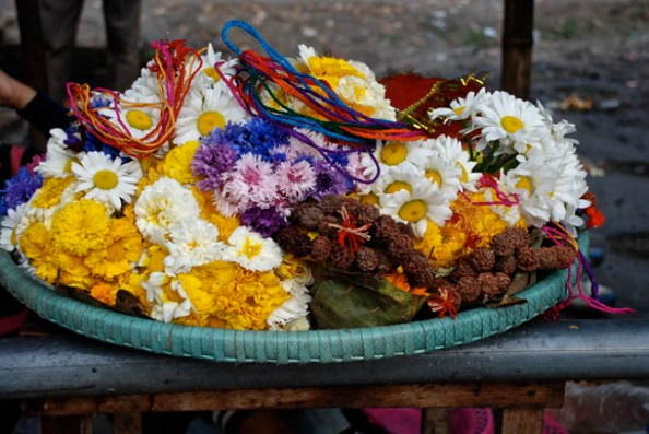 Fresh flowers for the Dali/Basket which will be offered during worship