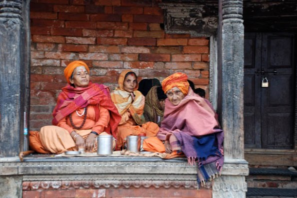 Abandoned by family - sitting in the sacred temple premises waiting for their deaths