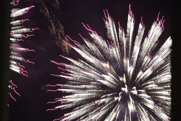 Fireworks on the JBR Beach for the inauguration of Meydan Beach Club