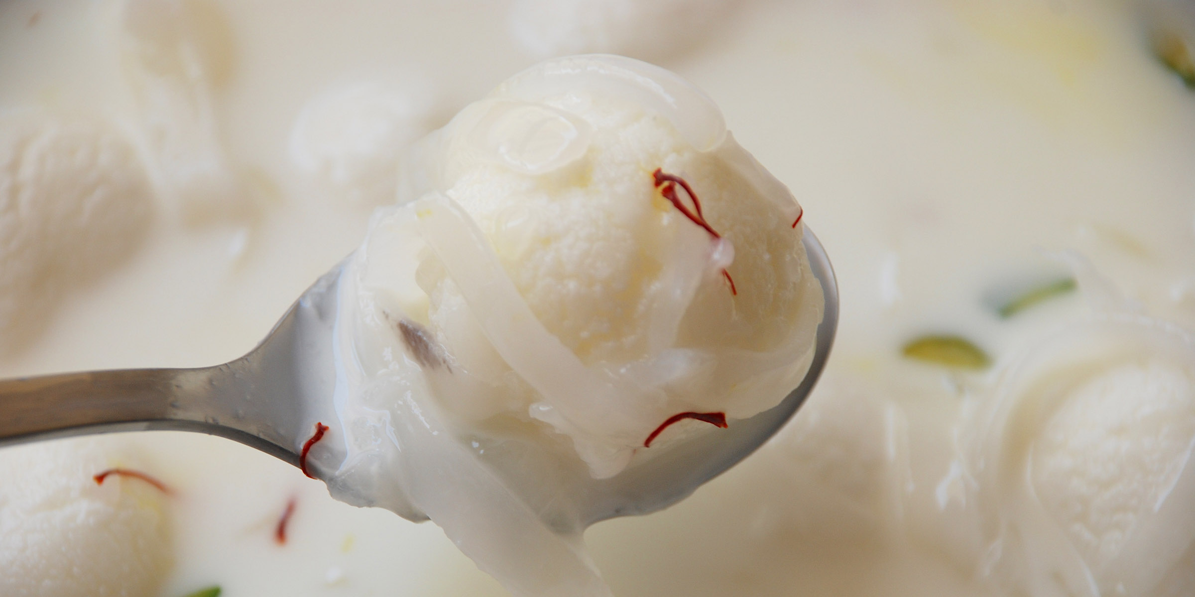 Rasgulla Macapuno - a fusion dessert with popular Bengali sweet Rasgulla and Filipino favourite Macapuno