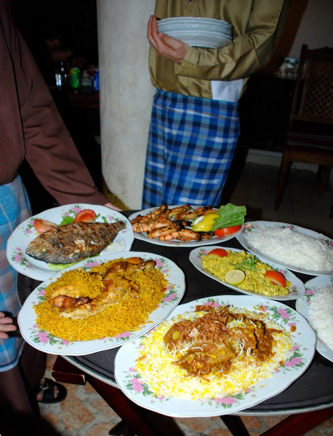 Emirati food at Al Fanar Restaurant Cafe