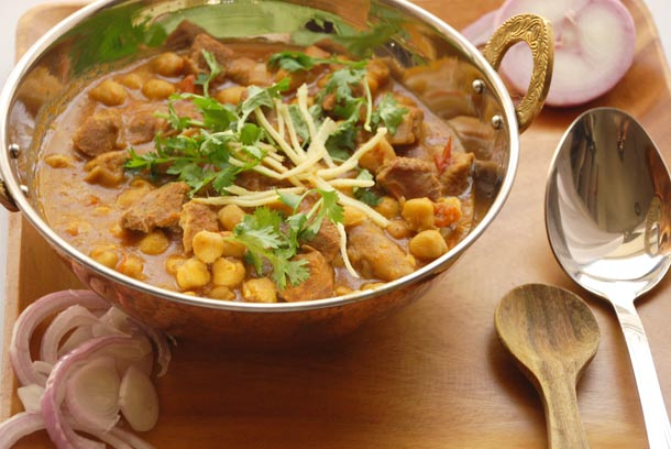 Mutton Chick Peas Spiced By Down To Earth Organic