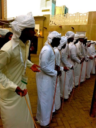 Al Ayyala dance is a traditional Emirati group dance