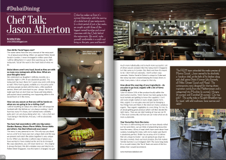 Chef Interview: Jason Atherton, October 2015