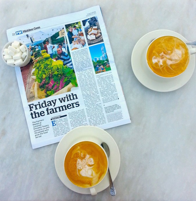 Article on Farmers' Market on the Terrace in Hidden Gems in Property Weekly in Gulf News