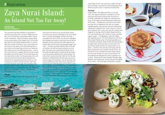 Zaya Nurai Island featured in February 2015 Edition of FoodeMag dxb