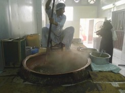 Non stop stirring is teh key to making the Omani Halwa