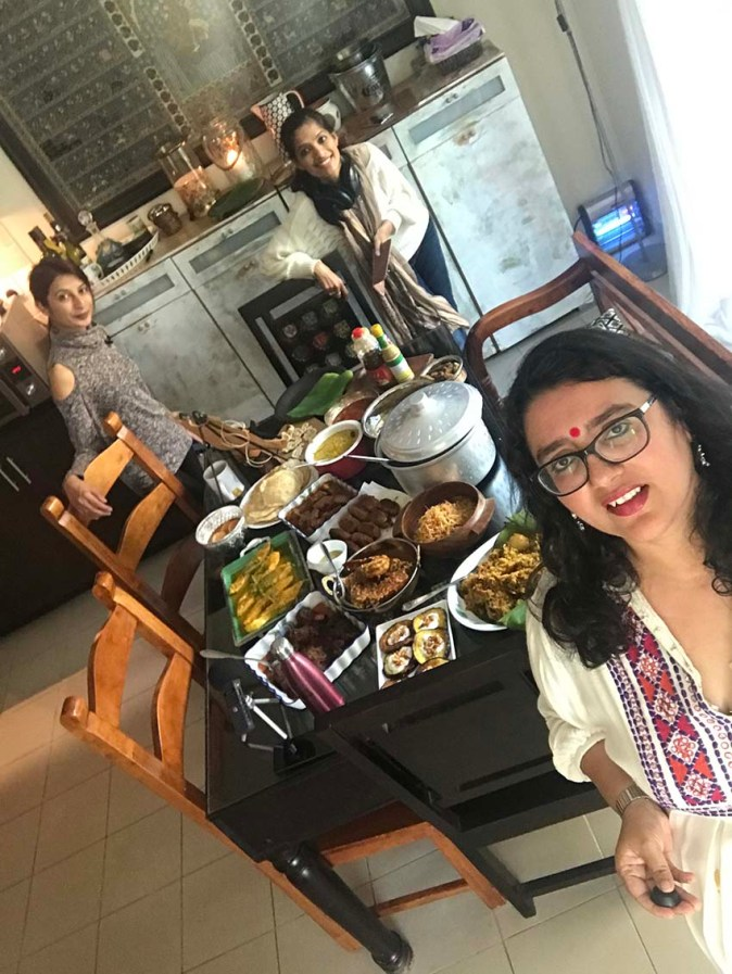 Arva and Farida Ahmed of Frying Pan Adventures come home to do their podcast on Bengali food