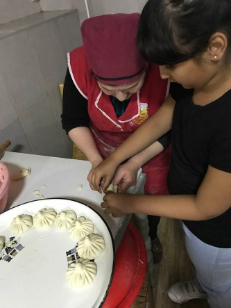 Lil Z trying to make Khinkali