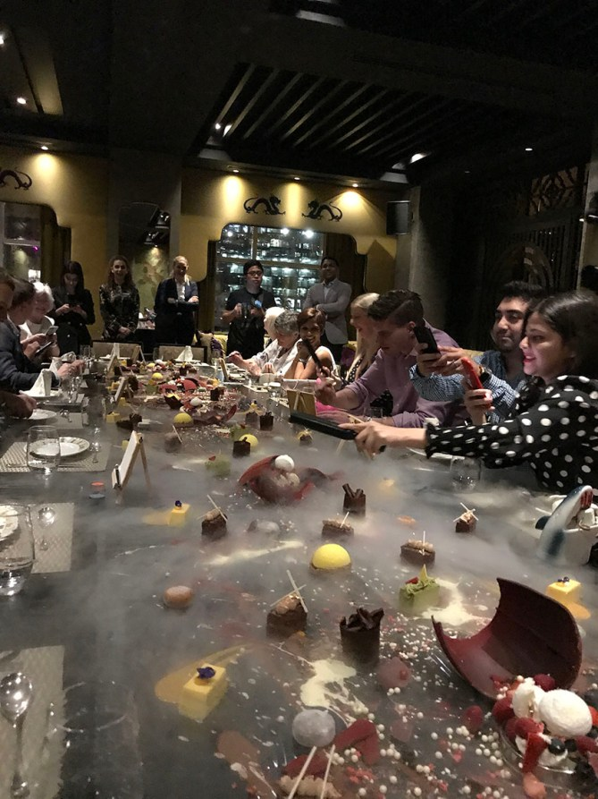 Dessert explosion at Buddha Bar Dubai