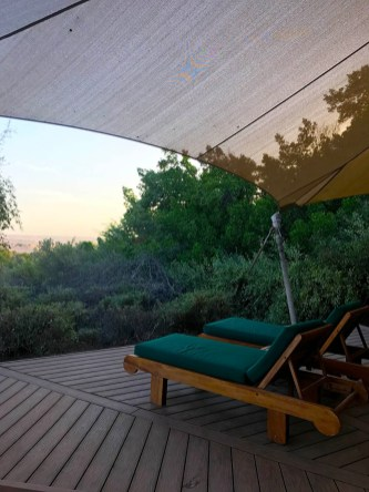 Sundeck by the private dip pool with Bedouine Suite in Al Maha Desert Resort