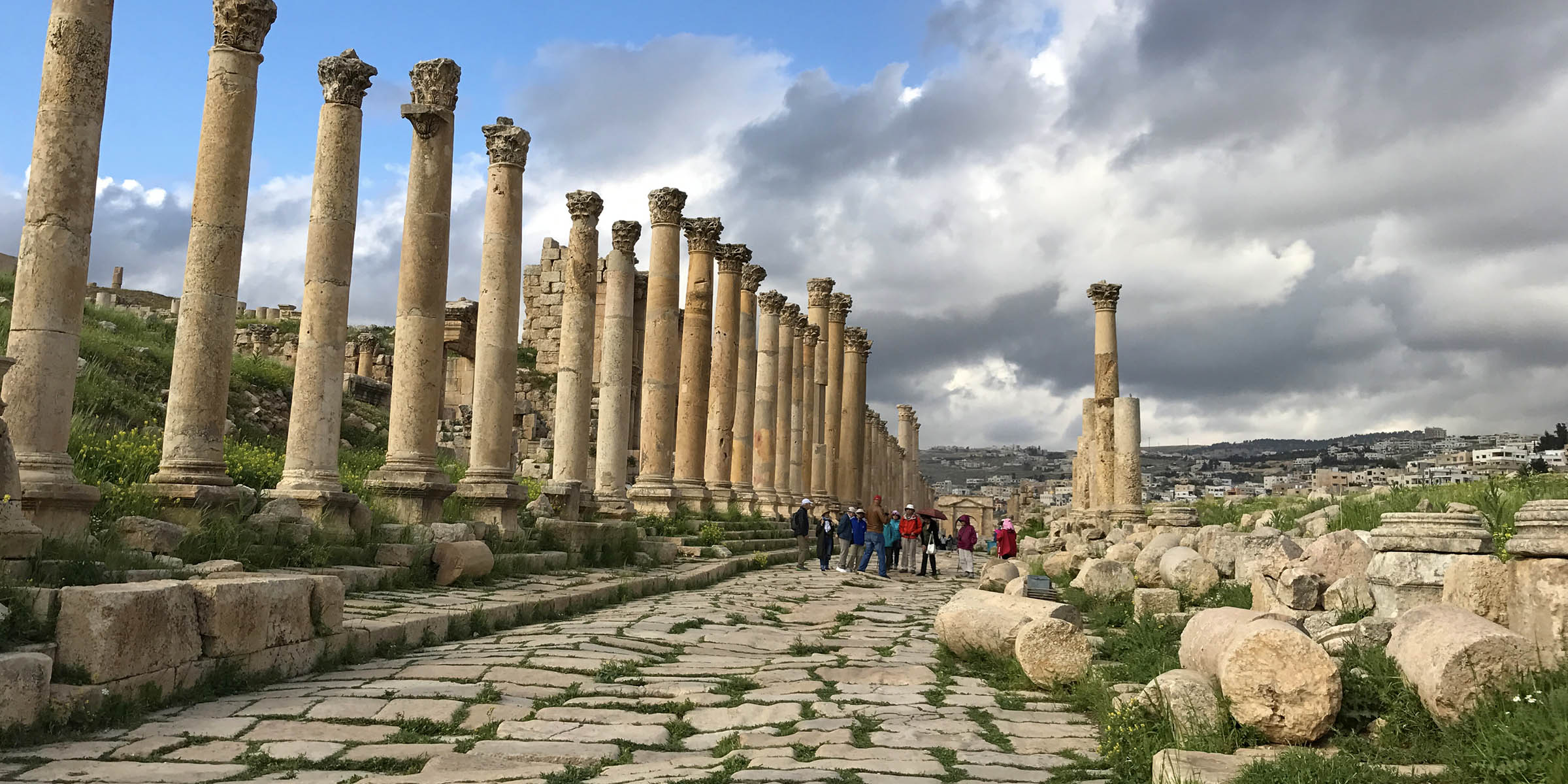 Jerash is a city in Jordan, north of the capital Amman with ruins of the walled Greco-Roman settlement of Gerasa