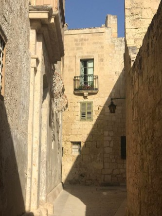 The stony walls of Mdina houses