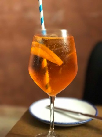 Aperol Spritz, the popular Maltese drink