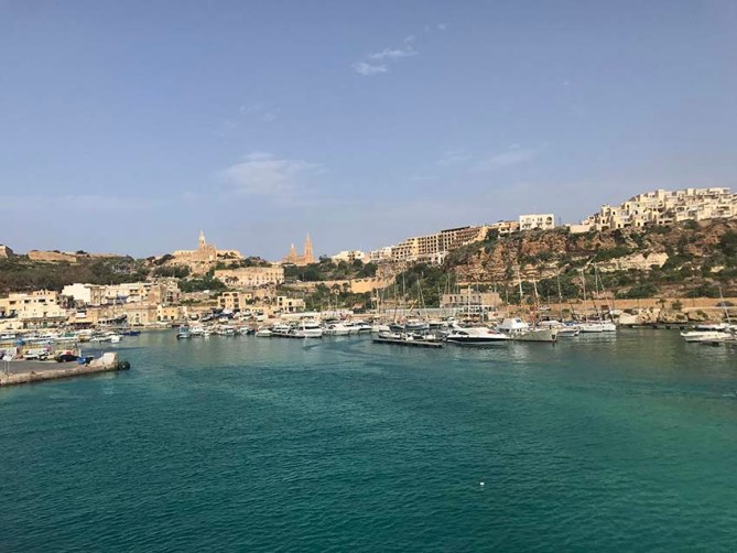 Mgarr harbour in Gozo island
