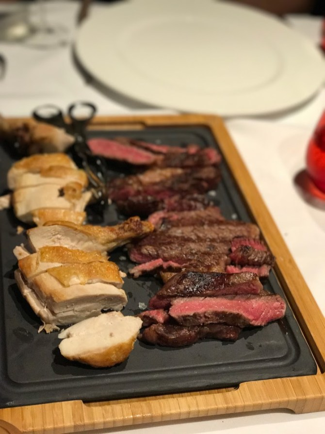 A Chateaubriand platter in The Chophouse in Valletta