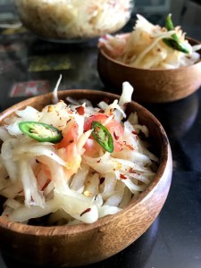 Thai Green Papaya Salad made at home