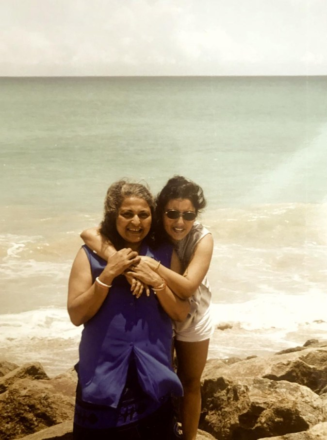 With my mum-in-law on our trip to Galle