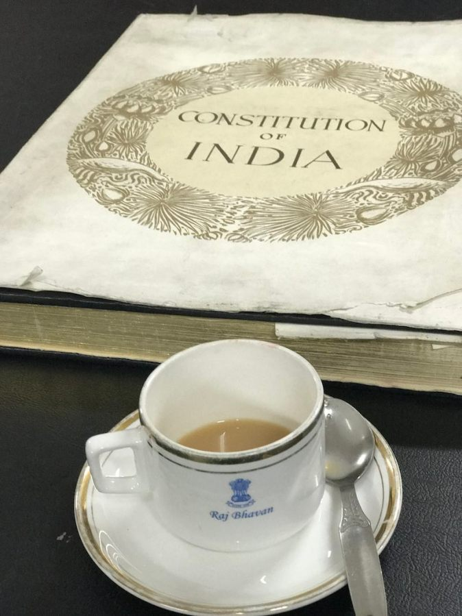 A copy of the Constitution of India at Governor's House, Kolkata