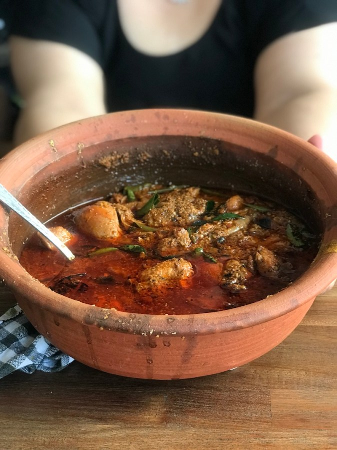 Chettinad Chicken cooked in a claypot