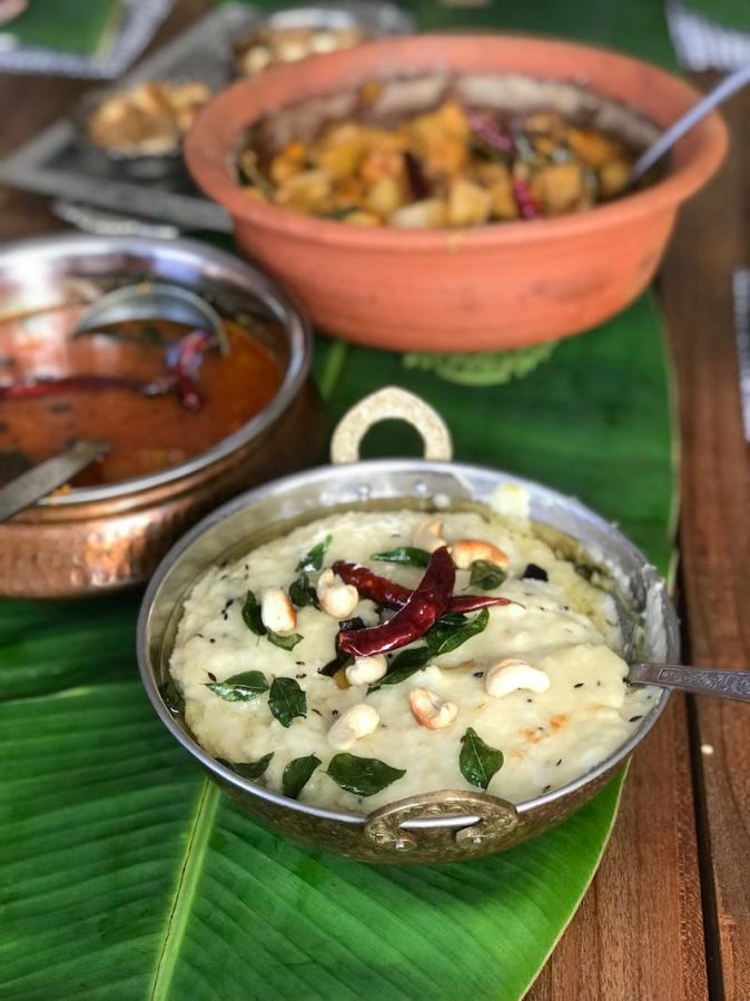 The savoury Ven Pongal