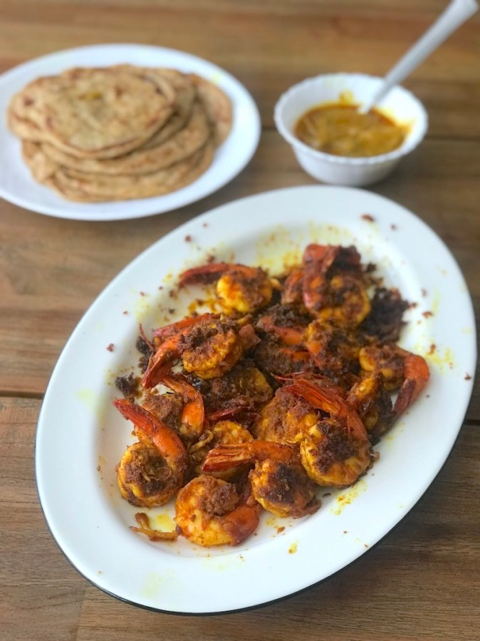 Kerala style Spicy fried Prawns