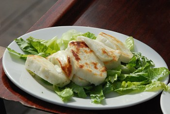 Grilled Haloumi in Barjeel Al Arab Restaurant